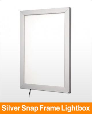Silver Snap Frame Lightbox