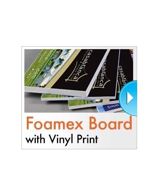 Vinyl mounted to Foamex