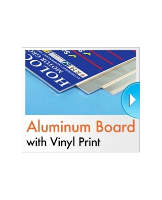 Vinyl Mounted to Composite Sheets